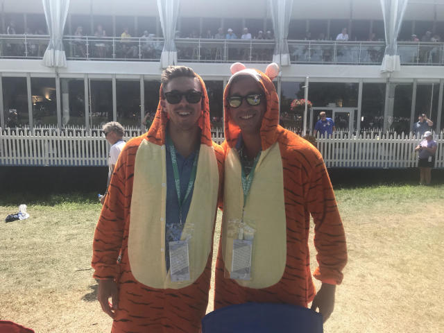 Tiger Woods fans were everywhere at Bellerive on Saturday. (Yahoo Sports)