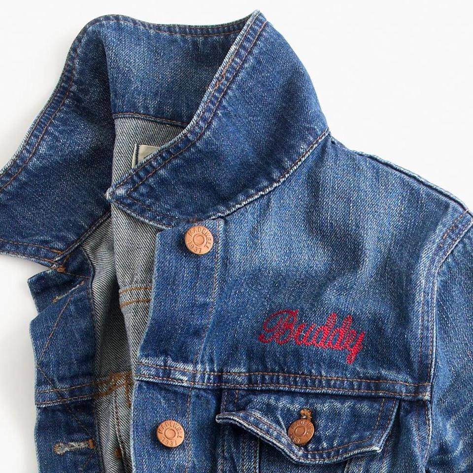 <p>What's better than a jean jacket that has their name on it? Get them a personalized <span>jacket from Madewell</span> ($118).</p>
