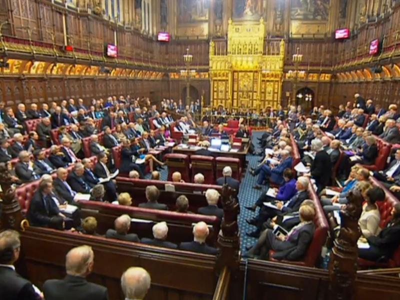 A packed House of Lords as the Government faces defeat over its Brexit Bill: PA