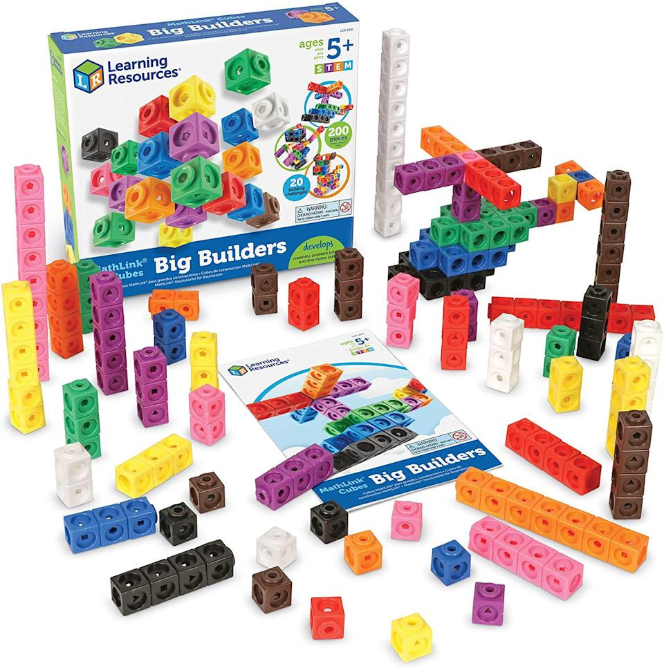 Learning Resources MathLink Cube Big Builder, 200 Pieces, from S$33 (Photo: Amazon)