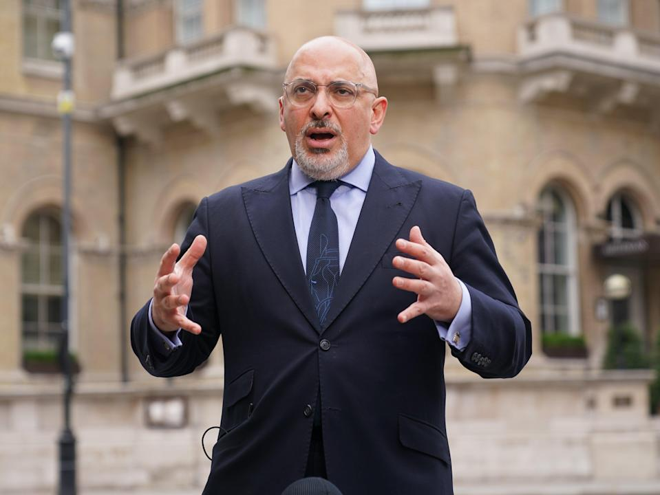 Vaccines minister Nadhim Zahawi suggested most under-18s will not be offered a Covid-19 vaccination (Yui Mok/PA) (PA Wire)
