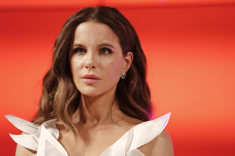 MUNICH, GERMANY - DECEMBER 04: Kate Beckinsale during the Mon Cheri Barbara Tag at Isarpost on December 4, 2019 in Munich, Germany. (Photo by Franziska Krug/Getty Images for Mon Cheri)