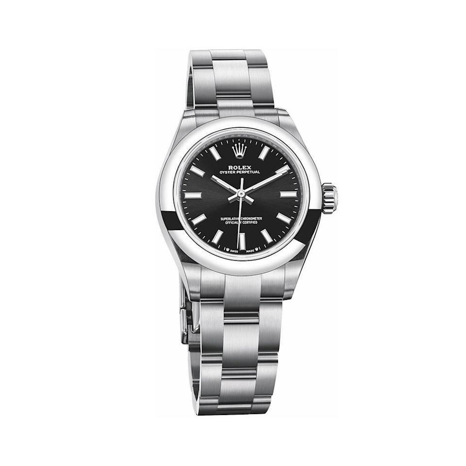 """<p><strong>Rolex</strong></p><p>wempe.com</p><p><strong>$5100.00</strong></p><p><a href=""""https://www.wempe.com/en-us/rolex/rolex-collection/oyster-perpetual/oyster-perpetual-28-m276200-0002"""" rel=""""nofollow noopener"""" target=""""_blank"""" data-ylk=""""slk:Shop Now"""" class=""""link rapid-noclick-resp"""">Shop Now</a></p><p>Rolex partnered with legendary explorer Sylvia Earle in 2009 to create Mission Blue, a project devoted to preserving """"Hope Spots"""" around the world. Each of these Hope Spots is scientifically identified as integral to ocean health, and the initiative aims to reduce human impact, protect endangered wildlife, and explore the deep ocean and its life. </p>"""