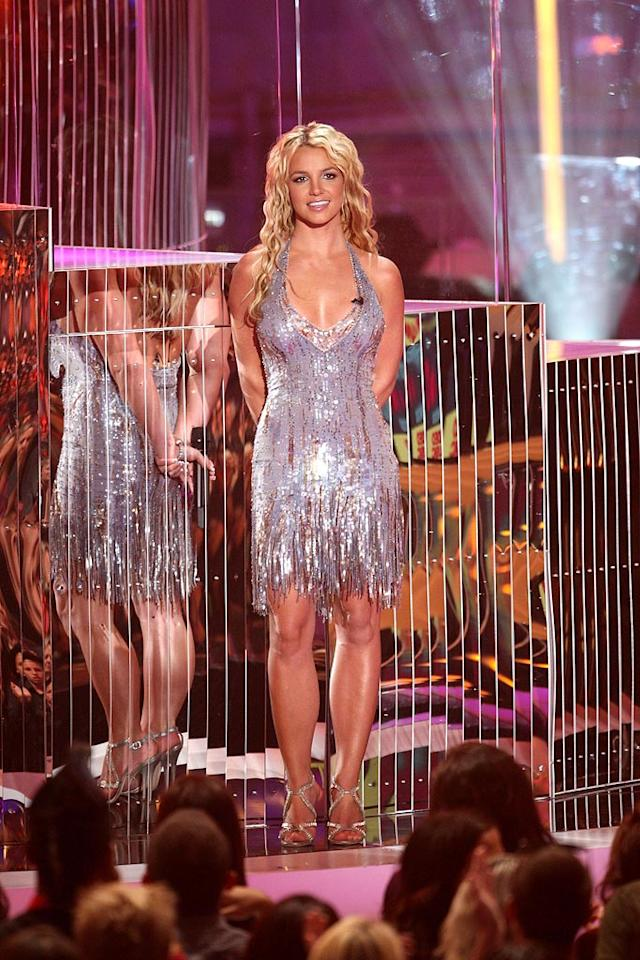 """Best: Britney's comeback was in full swing last night at the 2008 MTV Video Music Awards as she wowed the crowd in an impeccable silver frock, strappy heels, and a smile. Jason Merritt/<a href=""""http://www.filmmagic.com/"""" target=""""new"""">FilmMagic.com</a> - September 7, 2008"""