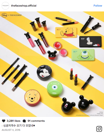 A Disney x The Face Shop Makeup Collection Is Here
