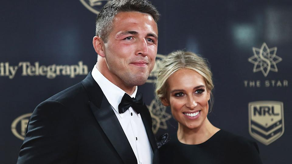 Seen here, Sam Burgess and his former wife Phoebe in happier times.