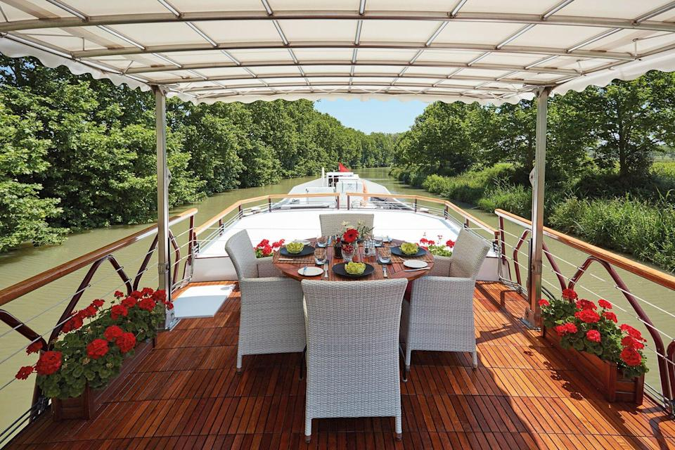 The Guest deck on the Alouette ship by Belmond