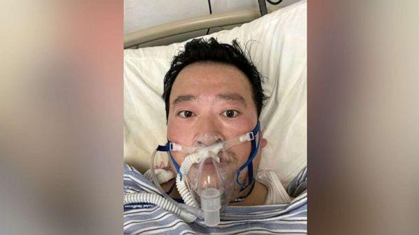 PHOTO: File Photo: Dr. Li Wenliang, the Chinese whistleblower who warned the public of a potential 'SARS-like' disease in Dec. 2019, is seen in this photo after he contracted the coronavius. (Li/Ropi via Zuma Press)