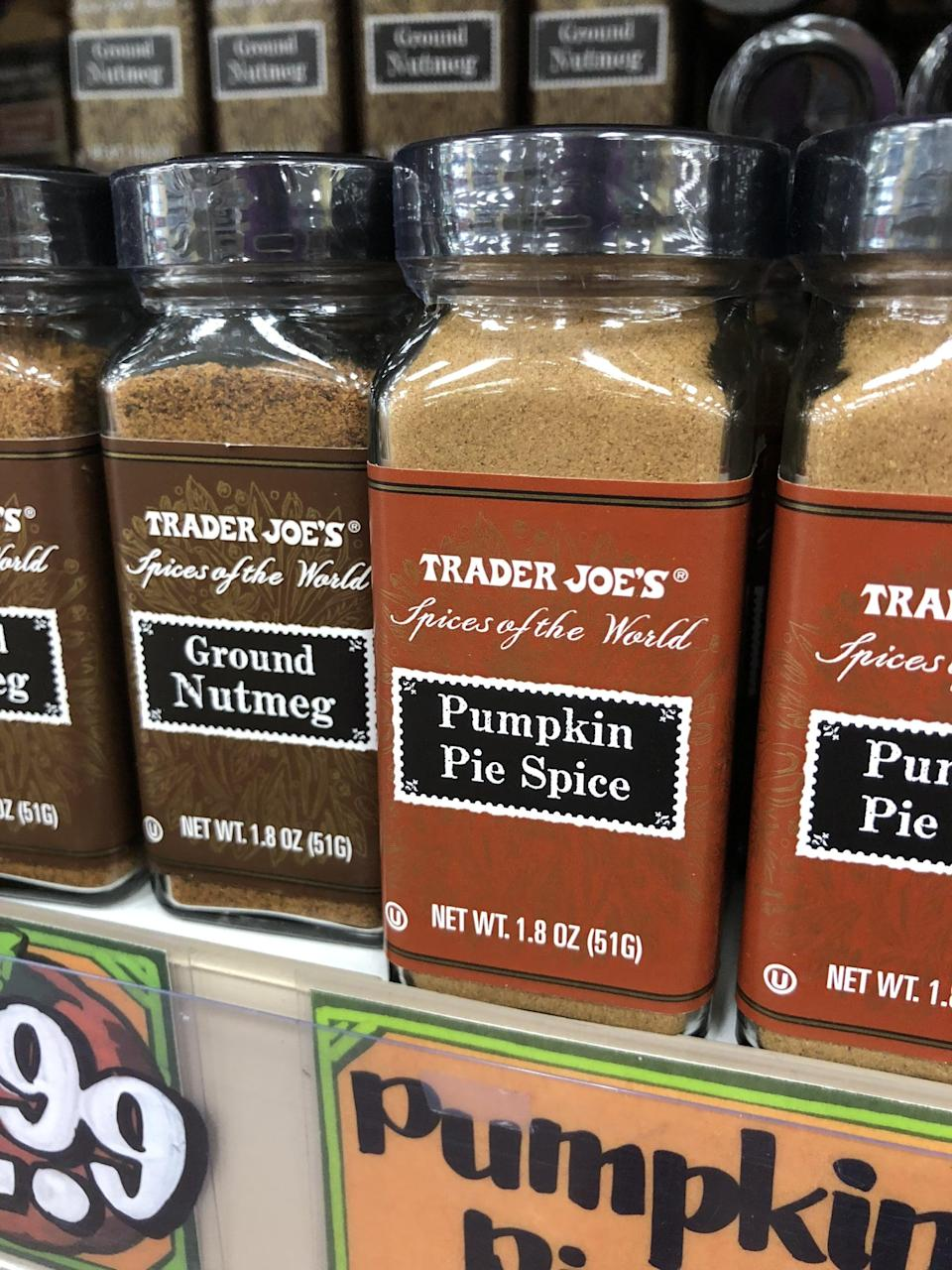 <p>From pumpkin pie spice, to nutmeg, to ginger, to cloves, Trader Joe's has them all.</p>