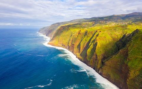 Aerial view of Madeira's coastline - Credit: iStock
