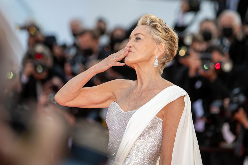 CANNES, FRANCE - JULY 17: Actress Sharon Stone attends the final screening of