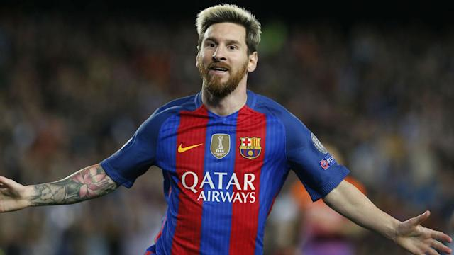 Lionel Messi completed a hat-trick and Neymar got on the scoresheet after missing a penalty as Barcelona thrashed 10-man Manchester City.