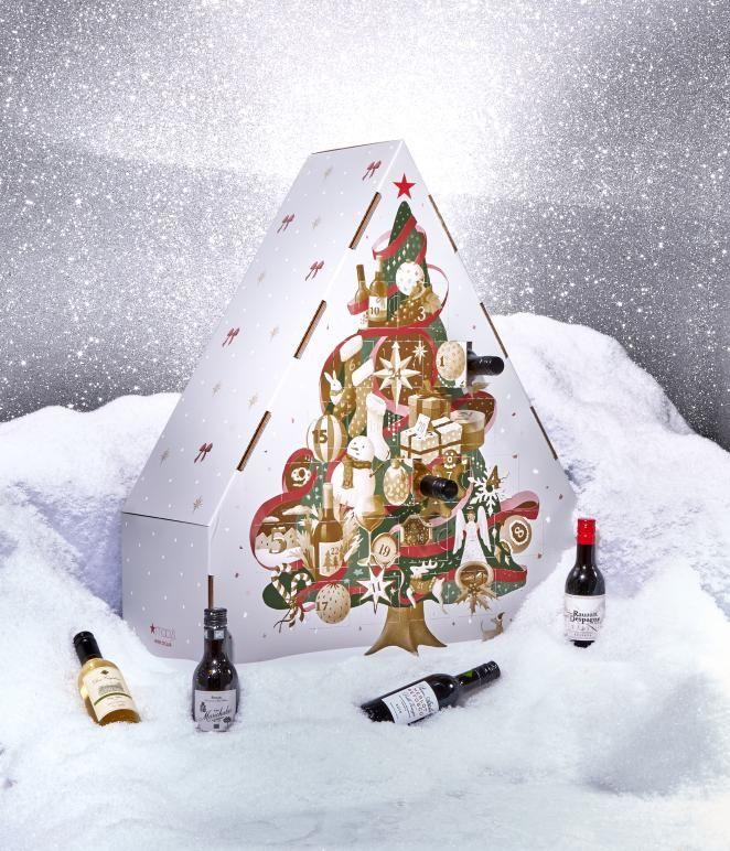 """<p><strong>Macy's </strong></p><p>macyswinecellar.com</p><p><strong>$49.99</strong></p><p><a href=""""https://go.redirectingat.com?id=74968X1596630&url=https%3A%2F%2Fwww.macyswinecellar.com%2Fproduct%2FRed-Still%2BWine%2FWine%2BAdvent%2BCalendar%2B2019-1950%2F3863950&sref=http%3A%2F%2Fwww.goodhousekeeping.com%2Fholidays%2Fgift-ideas%2Fg29704218%2Fbest-alcohol-advent-calender-ideas%2F"""" target=""""_blank"""">Shop Now</a></p><p>Instead of 12 days of bad Christmas chocolate, why not surprise a friend or family member with 24 mini bottles of wine instead? Inside, you'll find Prosecco, Pinot Grigio, Chardonnay, Malbec, and Bordeaux that'll keep the cheer going all season long.</p>"""