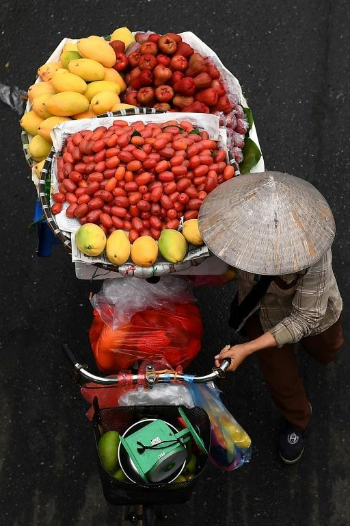 Hanoi's fruit vendors have been hit by the Covid-19 pandemic, despite Vietnam's low case numbers