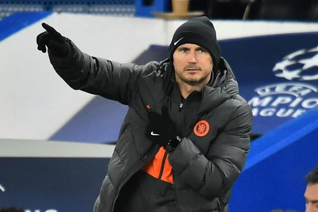 Unhappy: Chelsea coach Frank Lampard gestures on the touchline (AFP Photo/Glyn KIRK )