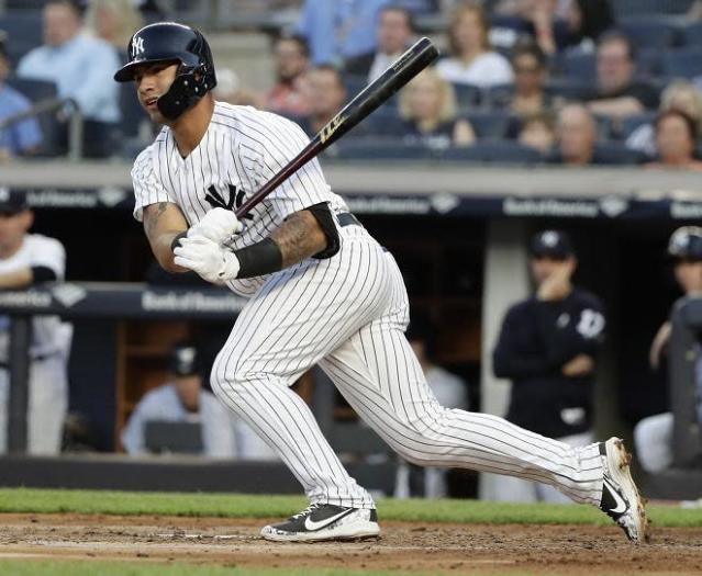 Yankees rookie Gleyber Torres can't stop hitting home runs. Not that he'd want to. (AP)