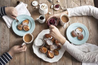 """<p>It's called the most important meal of the day for a reason. """"Many people don't recognize that if they skip breakfast because they're too busy or in an effort to reduce calorie intake for weight loss, they'll make up for it overall in caloric intake during the rest of the day and even into the evening,"""" says registered dietitian Vashti Verbowski of Your Kitchen Dietitian. """"If you're not well-fed when you need the energy, you keep munching in the later hours of the day and especially (unfortunately) when you don't need the energy.""""</p>"""