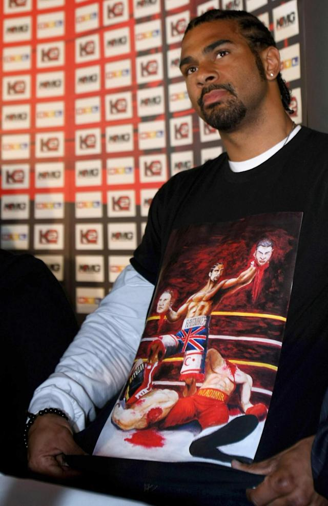 The t-shirt that so infuriated Klitschko (Getty )