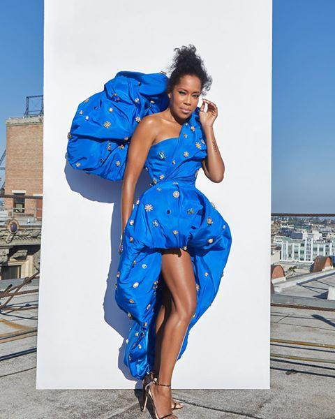 "<p>Another winner on the night was Watchmen's Regina King, who  opted for Schiaparelli couture in the form of a one-shouldered, blue dress of big proportions, which certainly stole the show as one of the most dramatic red-carpet looks of the night. </p><p>Later in the evening, when King accepted her award, she had changed into a pink suit, which she paired with a T-shirt which had Breonna Taylor's face on, a young Black woman who was fatally shot by police in her own home earlier this year.</p><p><a href=""https://www.instagram.com/p/CFYI1JmAoOf/?utm_source=ig_embed&utm_campaign=loading"">See the original post on Instagram</a></p>"