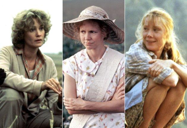 """In 1984, Sissy Spacek received an Oscar nomination for """"The River,"""" playing a woman struggling against hope to keep her farm. That same year, Jessica Lange also received an Oscar nomination for """"Country,"""" in which she, too, played a farmer struggling to keep her farm. The winner that year, though, was Sally Field for """"Places in the Heart. She played a farmer who struggled against the weather and the banks to save her farm."""