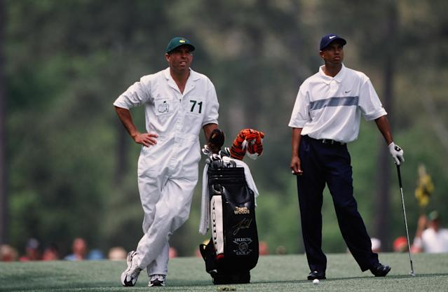 "<h1 class=""title"">Tiger Woods And Stevie Williams During The 2001 Masters Tournament</h1> <div class=""caption""> Tiger Woods and Stevie Williams during the 2001 Masters. </div> <cite class=""credit"">Augusta National</cite>"