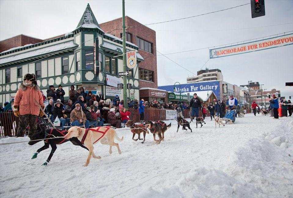 "<p><strong>Where:</strong> Anchorage, Alaska</p><p><strong>When:</strong> February 26–March 7, 2021</p><p><strong>What to Expect: </strong>Dogs, reindeer, and more furry friends gather with their owners in Anchorage, Alaska. Be sure to catch snowshoe softball, the always-hilarious ""outhouse"" races, and multiple sled-dog races.</p><p>For more information, visit <a href=""http://www.furrondy.net/about/history"" rel=""nofollow noopener"" target=""_blank"" data-ylk=""slk:furrondy.net"" class=""link rapid-noclick-resp"">furrondy.net</a>.</p><p><a class=""link rapid-noclick-resp"" href=""https://go.redirectingat.com?id=74968X1596630&url=https%3A%2F%2Fwww.tripadvisor.com%2FTourism-g60880-Anchorage_Alaska-Vacations.html&sref=https%3A%2F%2Fwww.redbookmag.com%2Flife%2Fg34746986%2Fwinter-festivals%2F"" rel=""nofollow noopener"" target=""_blank"" data-ylk=""slk:Plan Your Trip"">Plan Your Trip</a></p>"