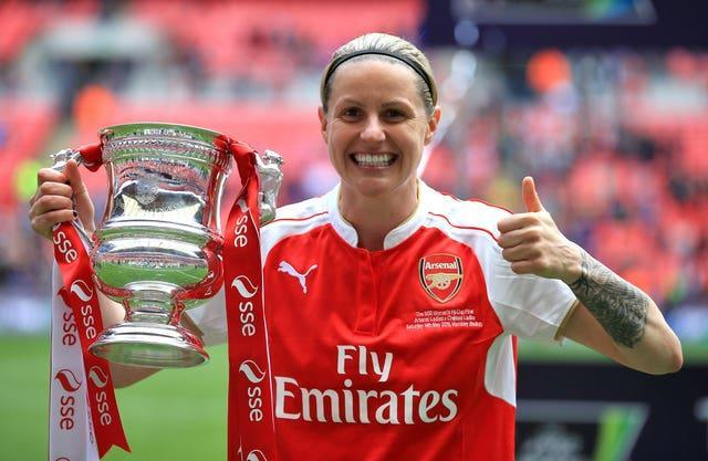 Kelly Smith, pictured, believes former Arsenal boss Laura Harvey should replace Joe Montemurro