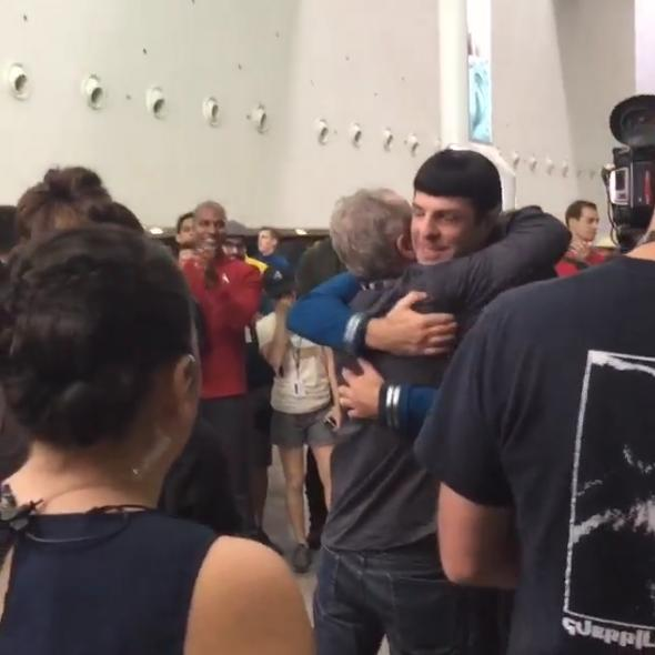 """<p>Zachary Quinto posted <a href=""""https://instagram.com/p/84pI4Wri68/"""">a video on Instagram</a>on Oct. 15 of him wrapping up his final scene as Spock in'Star Trek Beyond.' He added the message:""""this. maybe for the last time. maybe not.""""</p>"""