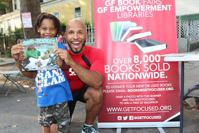 Martinez said Get Focused has held 40 events in the last two-and-a-half years to teach the kids the importance of literacy and health. (Get Focused/Goldin Martinez)