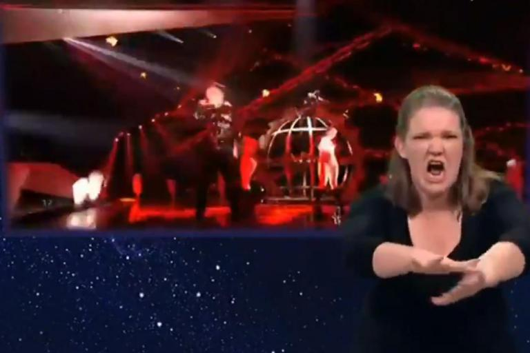 Eurovision 2019:  Viewers hail enthusiastic performance of sign language interpreter during Iceland's act