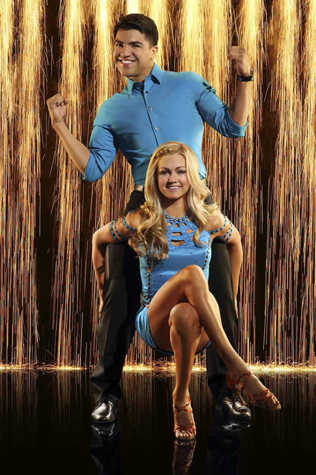 """World class athlete Victor Ortiz partners with newcomer Lindsay Arnold on """"Dancing With the Stars"""" Season 16, premiering March 18 on ABC."""