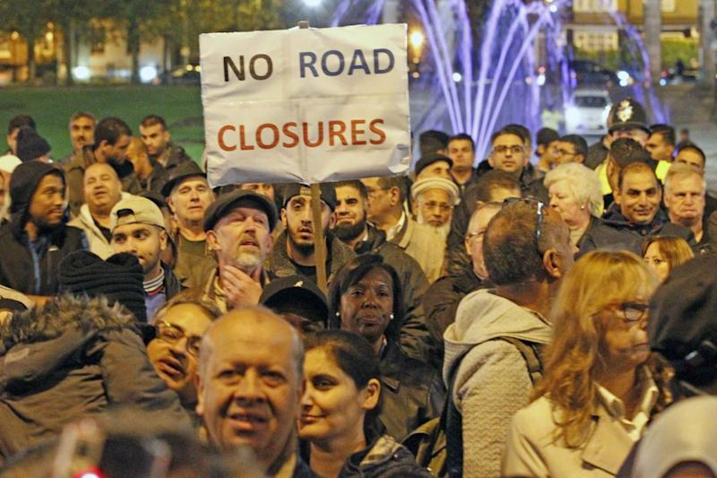 Anger: Drivers initially protested against the mini Holland cycle lane in Walthamstow. (Nigel Howard)