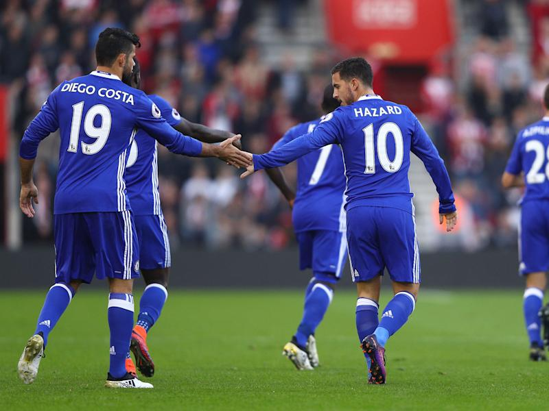 The pair won't start for Chelsea today: Getty