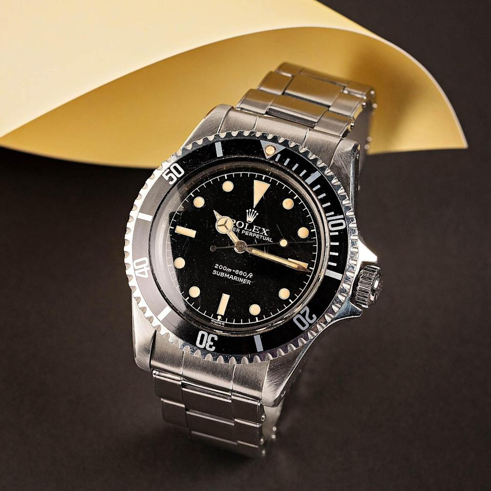 """<p>bobswatches.com</p><p><a href=""""https://www.bobswatches.com/rolex-auctions/vintage-rolex-submariner-5512-133120"""" rel=""""nofollow noopener"""" target=""""_blank"""" data-ylk=""""slk:SEE PRICE & BID NOW"""" class=""""link rapid-noclick-resp"""">SEE PRICE & BID NOW</a></p>"""