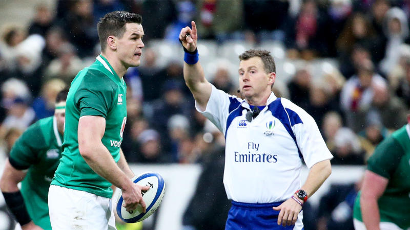 Nigel Owens will take charge of the match between Ireland and New Zealand at the Rugby World Cup. (Getty Images)