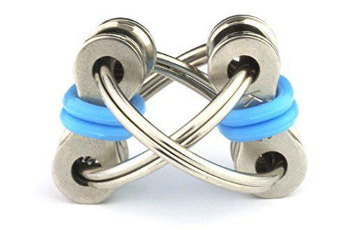 """<p><strong>Tom's Fidgets</strong></p><p>amazon.com</p><p><strong>$7.99</strong></p><p><a href=""""https://www.amazon.com/dp/B01MAYBTA0?tag=syn-yahoo-20&ascsubtag=%5Bartid%7C10055.g.34935171%5Bsrc%7Cyahoo-us"""" rel=""""nofollow noopener"""" target=""""_blank"""" data-ylk=""""slk:Shop Now"""" class=""""link rapid-noclick-resp"""">Shop Now</a></p><p>This tiny toy is nothing more than a few bolts and rings attached for flipping and spinning, but fans says it keeps their hands busy and has even helped them kick smoking or biting their nails. Note: The small size means it's not recommended for younger kids.</p>"""