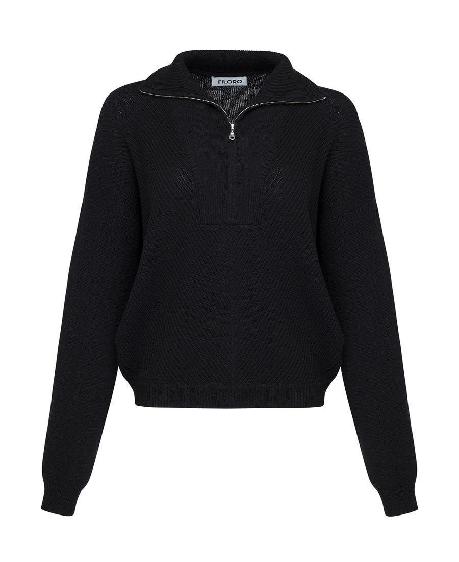 """Wonderfully soft and slightly oversized with a half-zip? Everyone can go home now. $115, Filoro. <a href=""""https://filoro.com/collections/womens/products/fw0204?variant=31476420051059"""" rel=""""nofollow noopener"""" target=""""_blank"""" data-ylk=""""slk:Get it now!"""" class=""""link rapid-noclick-resp"""">Get it now!</a>"""