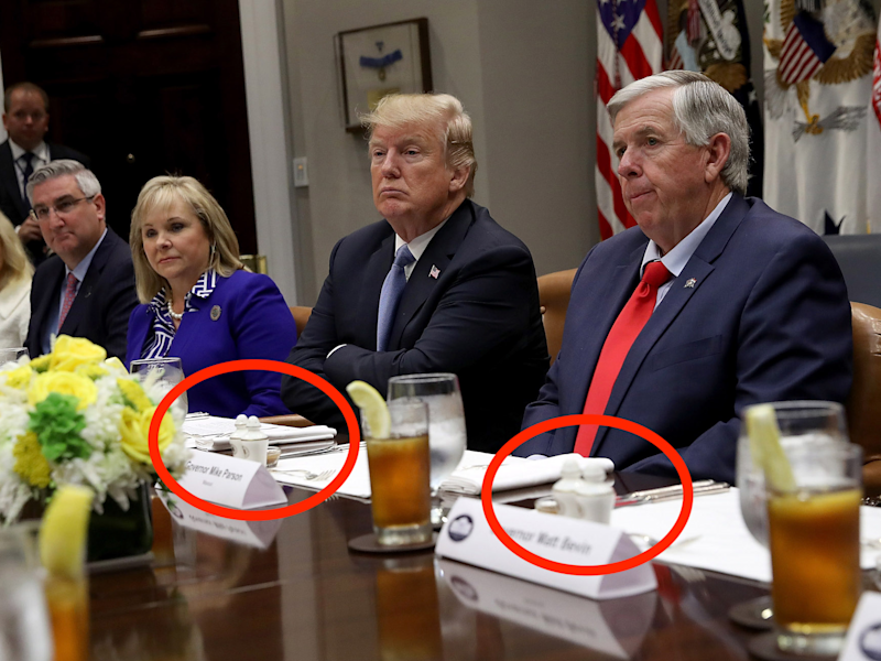 President Donald Trump attends a working lunch with U.S. governors at the White House June 21, 2018 in Washington, DC.