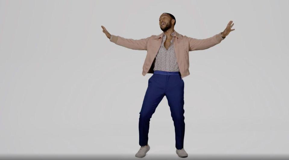 """John Legend performs John Lennon's """"Imagine"""" during a virtual performance for the 2020 Summer Olympics opening ceremonies. - Credit: Courtesy of Sperry"""