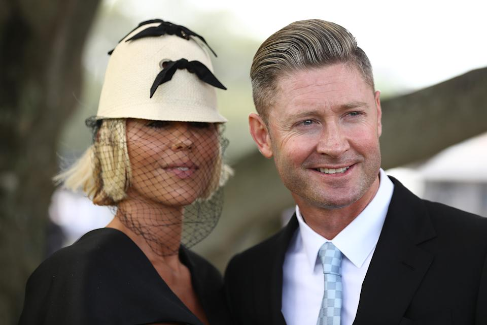 Pip Edwards and Michael Clarke together
