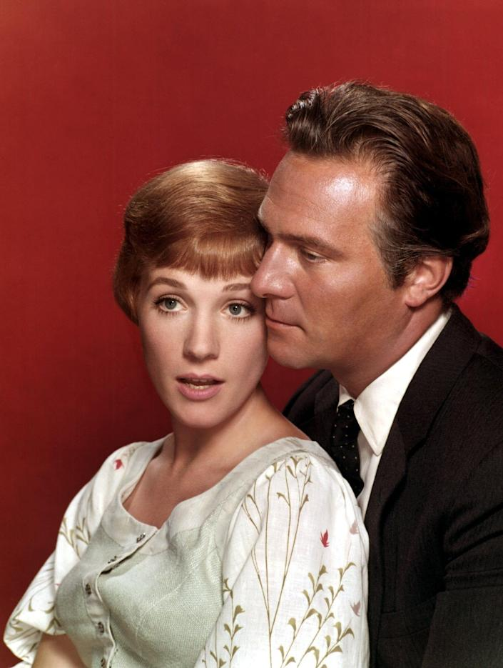 With his Sound of Music co-star Julie Andrews: he described working with her as like 'being hit over the head daily with a Hallmark greetings card' - 20th C Fox/Everett/Rex Features