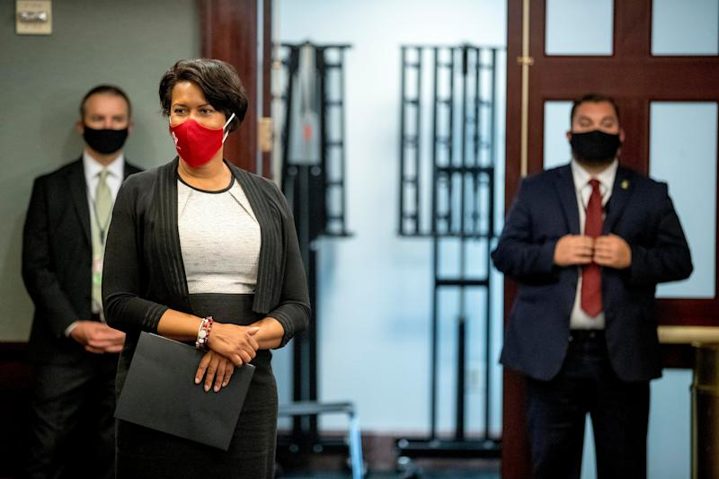 Mayor Muriel Bowser moved the District to Phase 2 of reopening on Monday after seeing 13 days of a sustained decline in coronavirus cases.