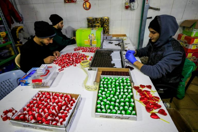 The raw ingredients for the factory's products come mostly from abroad, shipped to the Israeli port of Ashdod and then trucked into the Gaza Strip, which is under an Israeli blockade