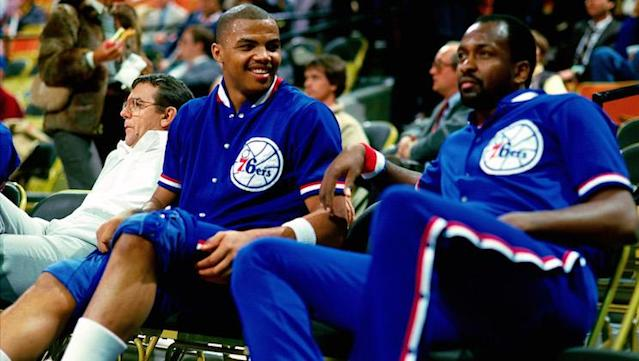 Charles Barkley might have won an NBA title if he had more time with Moses Malone. (Getty Images)