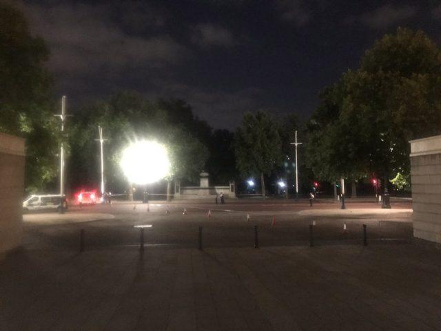 Police on The Mall near Buckingham Palace in London, where a man has been arrested