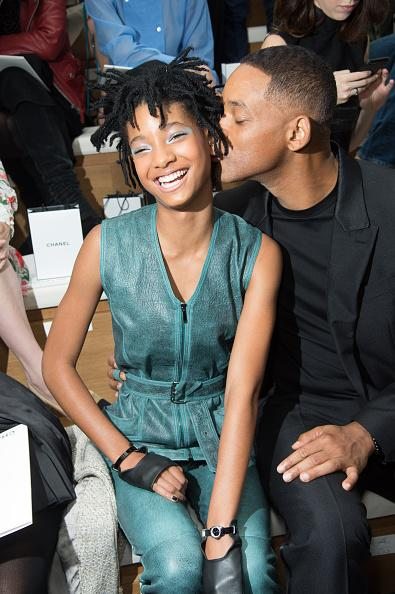 <p>Will Smith showed his daughter Willow Smith some affection on the Chanel FROW and she didn't seemed embarrassed at all.<i> [Photo: Stephane Cardinale - Corbis/Corbis via Getty Images]</i></p>