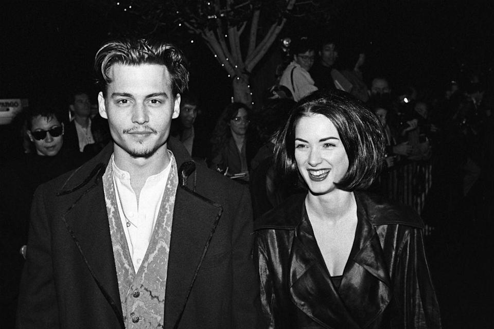 <p>That same year, he met Winona Ryder at the premiere of Jerry Lee Lewis biopic 'Great Balls Of Fire!'. They started dating, and Depp popped the question. They were engaged for three years, during which time Depp had Winona Forever' inked on his arm. After their split in 1993, he had it changed to 'Wino Forever'.</p>