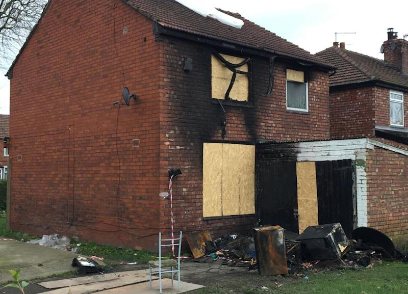 The scene of the fatal house fire