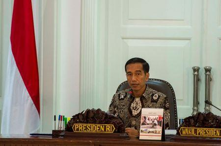 Indonesia's President Joko Widodo leads a cabinet meeting at the Presidential Palace in Jakarta