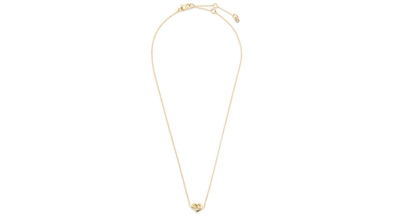 Kate Spade Loves Me Knot Heart Pendant Necklace
